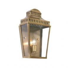 Oaks Lighting - Inca Brass Plate Single Candle Exterior Wall Lantern - 110 BR
